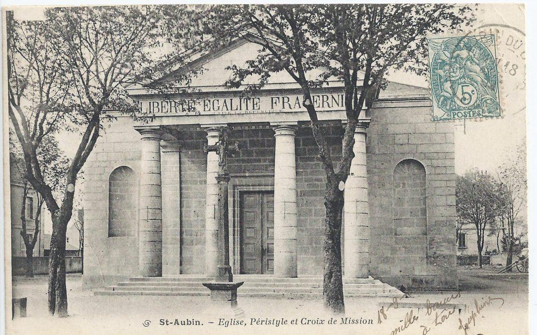 L'ancienne croix de cimetière de Saint-Aubin du Jura