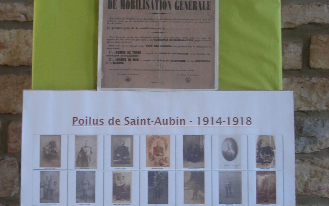 Exposition: les saint-aubinois dans la grande guerre