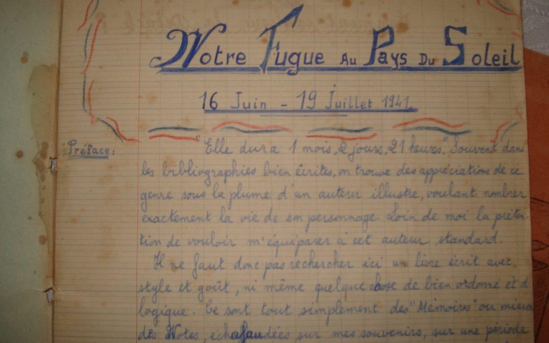 l'exode de 6 jeunes saint-aubinois pendant la débâcle de 1940