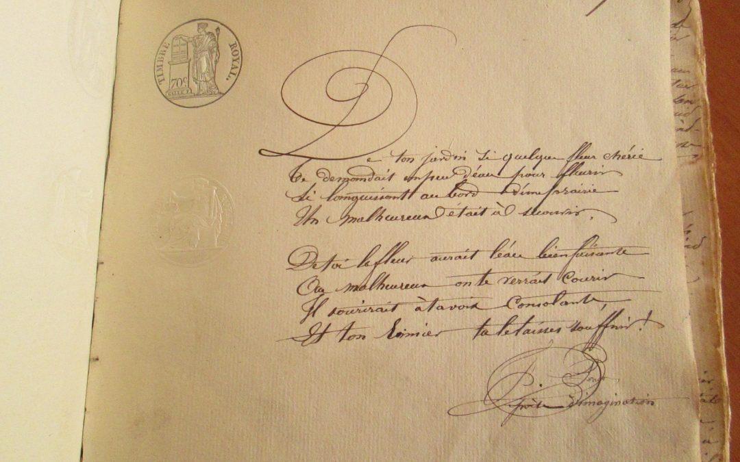 Deux poèmes dans les registres d'état-civil