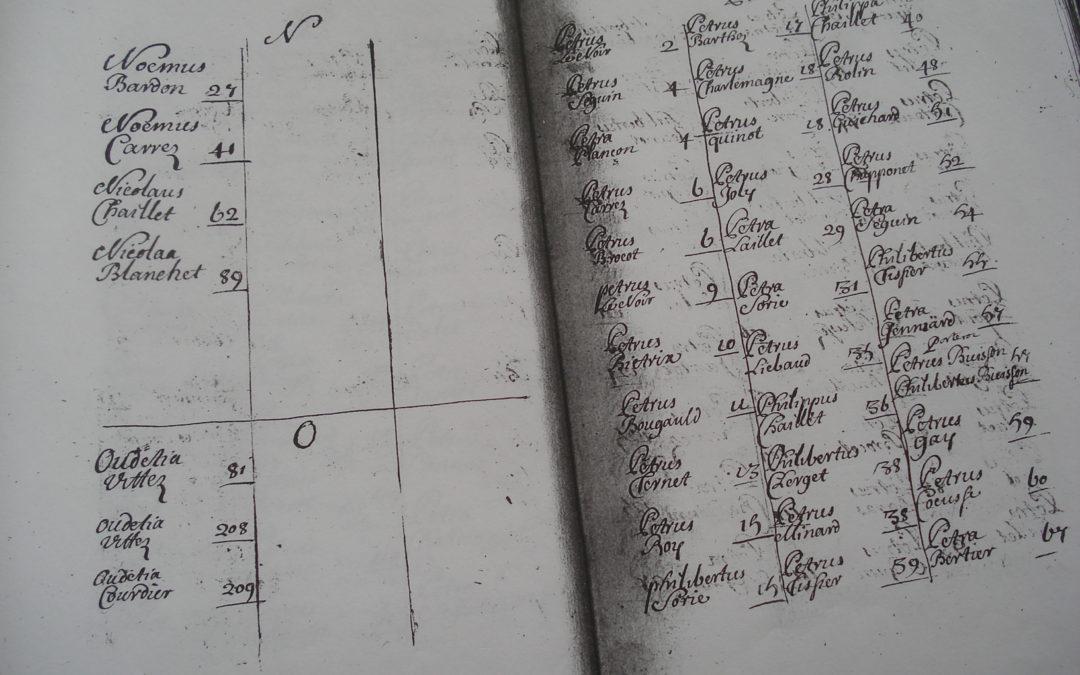 Quelques rimes dans un registre paroissial de 1688 à Saint-Aubin
